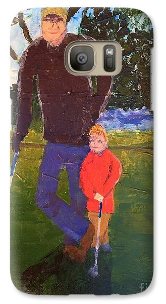 Galaxy Case featuring the painting Golfing by Donald J Ryker III