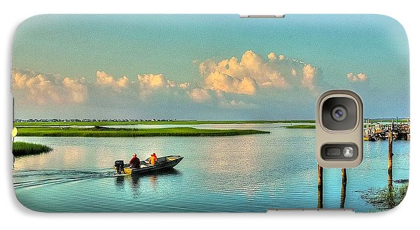 Galaxy Case featuring the photograph Gone Fishing by Ed Roberts