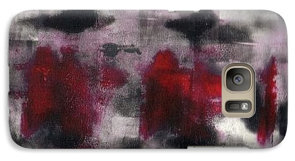 Galaxy Case featuring the painting Gone In 45 Seconds by Lesley Fletcher