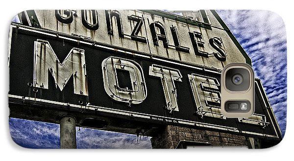 Galaxy Case featuring the photograph Gonzales Motel In Color by Andy Crawford