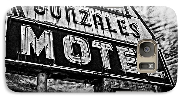 Galaxy Case featuring the photograph Gonzales Motel Sign by Andy Crawford