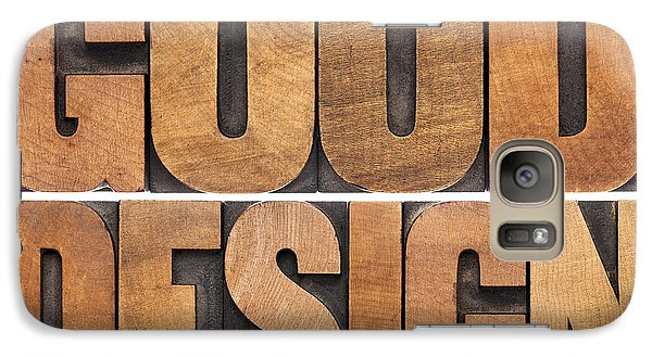 Galaxy Case featuring the photograph Good Design In Wood Type by Marek Uliasz