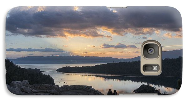 Galaxy Case featuring the photograph Good Morning Emerald Bay by Peter Thoeny