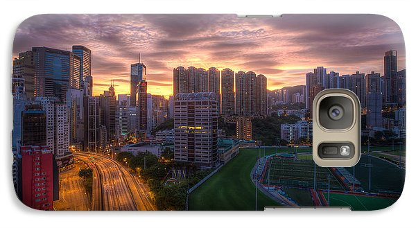 Galaxy Case featuring the photograph Good Morning Hong Kong by Mike Lee