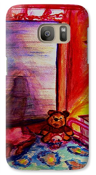 Galaxy Case featuring the painting Good Night Angels by Helena Bebirian