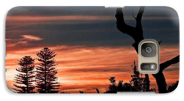 Galaxy S7 Case featuring the photograph Good Night Trees by Miroslava Jurcik