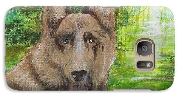 Galaxy Case featuring the painting Good Old Shep by Cathy Long