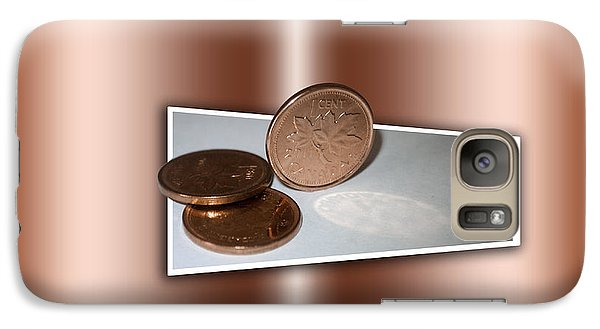 Galaxy Case featuring the photograph Goodbye Canadian Penny by Pennie  McCracken
