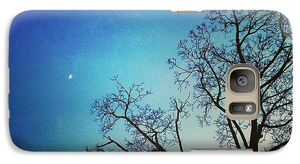 Galaxy Case featuring the photograph Goodnight Moon by Toni Martsoukos