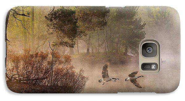Geese Galaxy S7 Case - Goose Fight by Anton Van Dongen