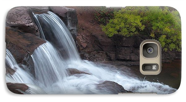 Galaxy Case featuring the photograph Gooseberry Falls In Slow Motion by James Peterson