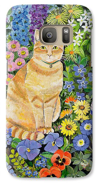 Garden Galaxy S7 Case - Gordon S Cat by Hilary Jones