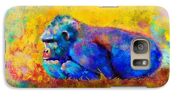 Galaxy Case featuring the painting Gorilla by Sean McDunn
