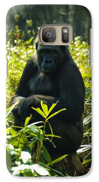 Gorilla Sitting On A Stump Galaxy S7 Case