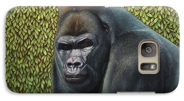 Gorilla Galaxy S7 Case - Gorilla With A Hedge by James W Johnson