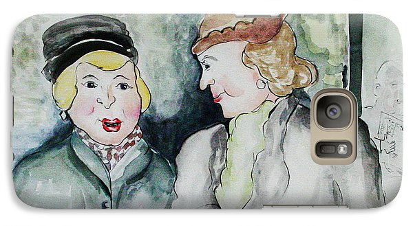 Galaxy Case featuring the painting Gossip On The Bus by Joyce Gebauer