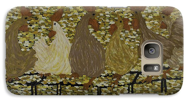 Galaxy Case featuring the painting Gossiping Chickens by Kurt Olson