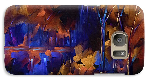 Galaxy Case featuring the painting Got The Blues by Steven Lebron Langston