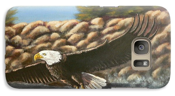 Galaxy Case featuring the painting Gotcha by Dan Wagner