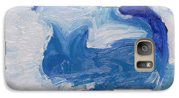Galaxy Case featuring the painting Gotham City Cat  by Shea Holliman