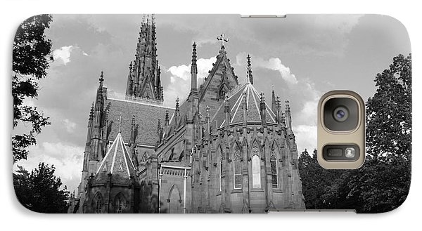 Galaxy Case featuring the photograph Gothic Church In Black And White by John Telfer