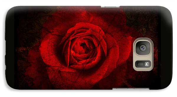 Galaxy Case featuring the digital art Gothic Red Rose by Absinthe Art By Michelle LeAnn Scott