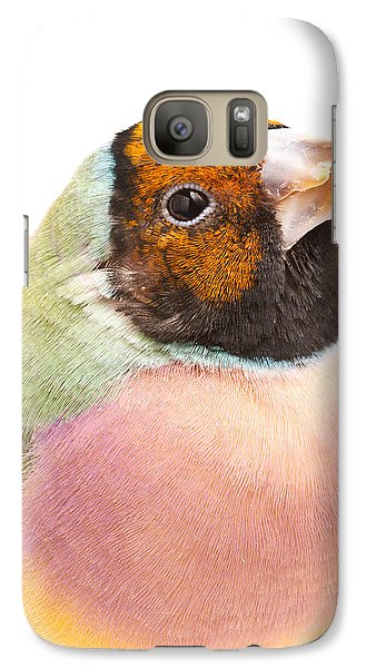 Gouldian Finch Erythrura Gouldiae Galaxy S7 Case by David Kenny