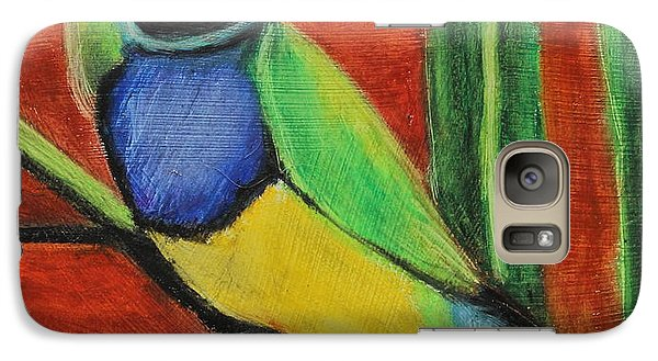 Galaxy Case featuring the painting Gouldian Finch by Jeanne Fischer