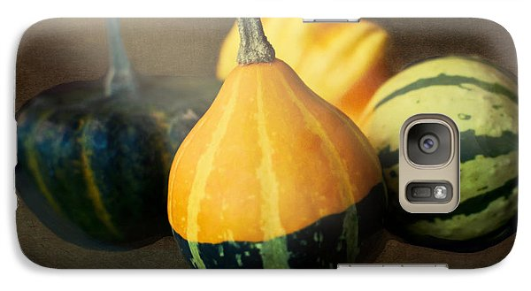 Galaxy Case featuring the photograph Gourds Aglow by Maria Janicki
