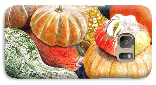 Galaxy Case featuring the painting Gourds by Carol Flagg