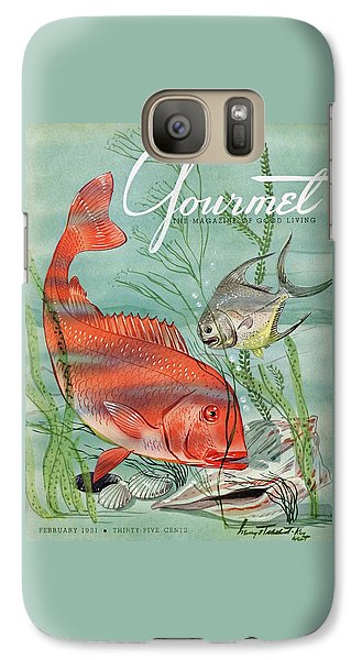 Gourmet Cover Featuring A Snapper And Pompano Galaxy S7 Case by Henry Stahlhut