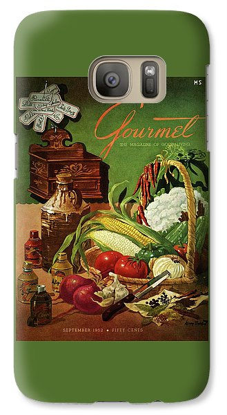Cauliflower Galaxy S7 Case - Gourmet Cover Featuring A Variety Of Vegetables by Henry Stahlhut