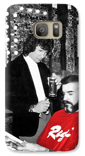 Galaxy Case featuring the photograph Governor Dan Evans Haircut by Merle Junk