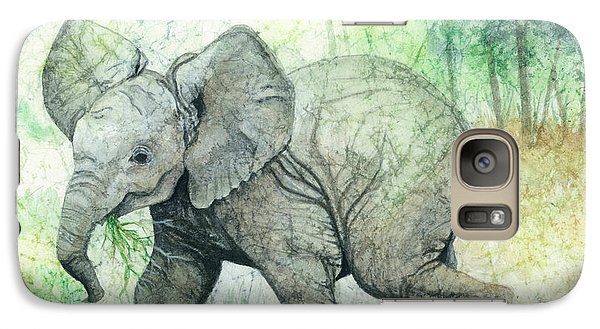 Galaxy Case featuring the painting Grabbing A Snack by Barbara Jewell