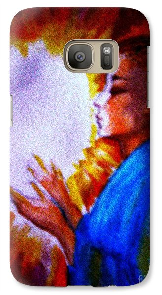 Galaxy Case featuring the painting Grace - 1 by Leanne Seymour