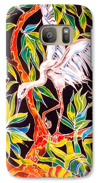 Galaxy Case featuring the painting Grace In Motion by Julie  Hoyle