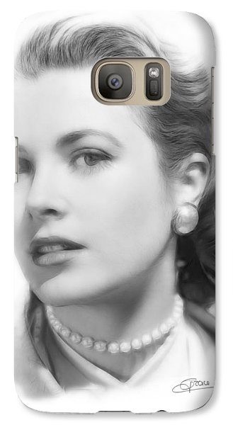Grace Kelly Pencil Galaxy S7 Case by Steve K