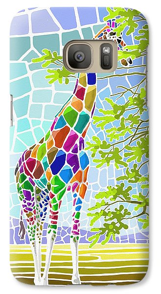 Galaxy Case featuring the painting Graceful by Anthony Mwangi
