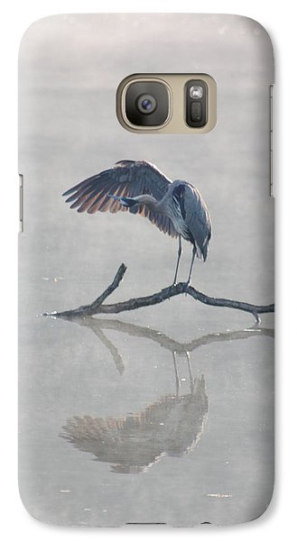 Galaxy Case featuring the photograph Graceful Heron by Anita Oakley