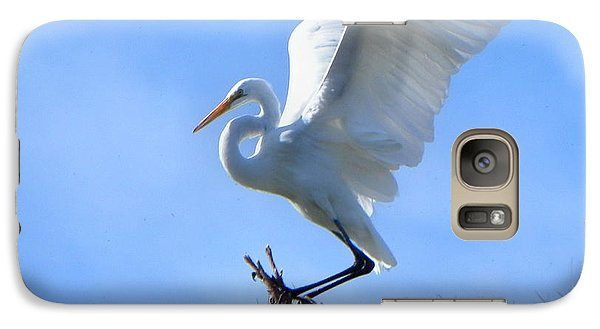 Galaxy Case featuring the photograph Graceful Landing by Deb Halloran