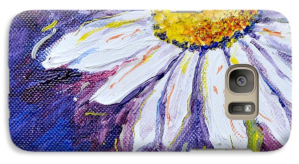 Galaxy Case featuring the painting Gracious Daisy by Lisa Fiedler Jaworski