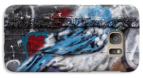 Graffiti Bluejay Galaxy Case by Carol Leigh