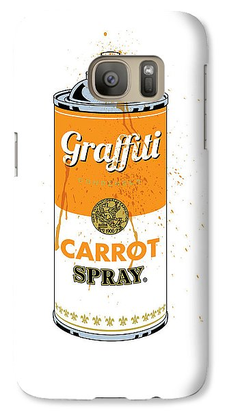 Carrot Galaxy S7 Case - Graffiti Carrot Spray Can by Gary Grayson