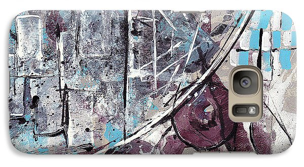 Galaxy Case featuring the painting Graffiti Gumbo by Buck Buchheister