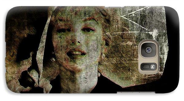 Galaxy Case featuring the digital art Graffiti On Marilyn by Kim Gauge