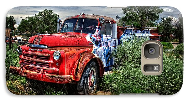 Galaxy Case featuring the photograph Grafitti Fire Truck by Ken Smith