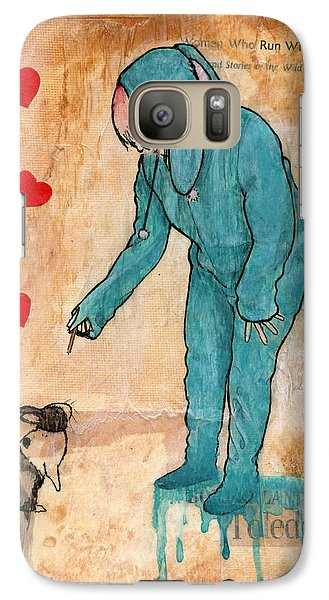 Galaxy Case featuring the painting Graham Crackers by Penny Collins