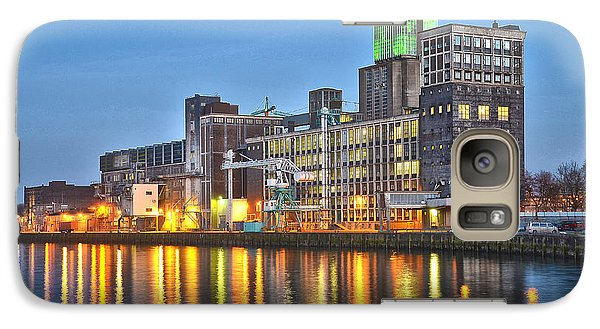 Galaxy Case featuring the photograph Grain Silo Rotterdam by Frans Blok