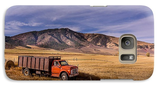 Galaxy Case featuring the photograph Grain Truck by Jeremy Farnsworth