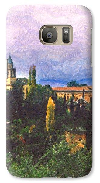 Galaxy Case featuring the digital art Granada Through The Keyhole by Spyder Webb